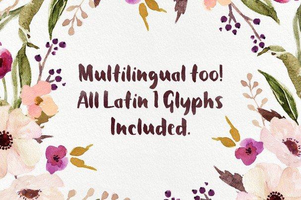 Download Petal Brush font (typeface)