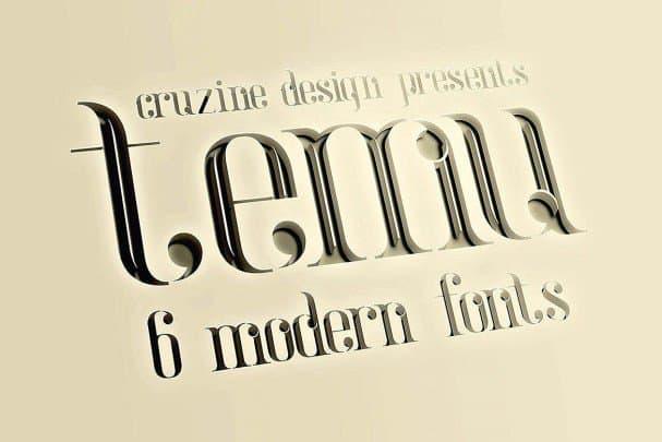 Download Temu - Modern font (typeface)