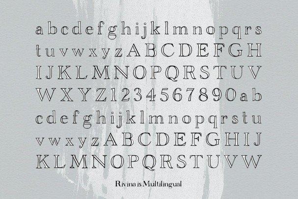 Download Rivina font (typeface)