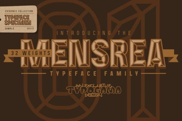 Download Mensrea font (typeface)