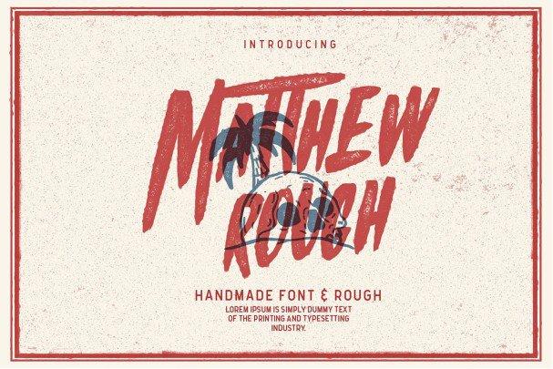Download Matthew Rough font (typeface)