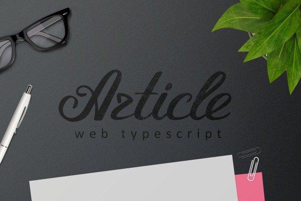 Download Article Typeface Script font (typeface)
