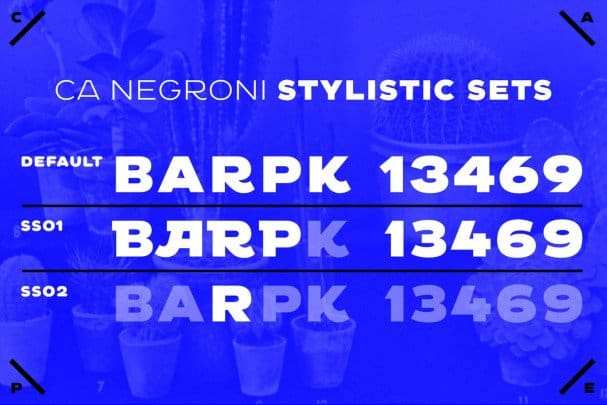 Download CA Negroni font (typeface)