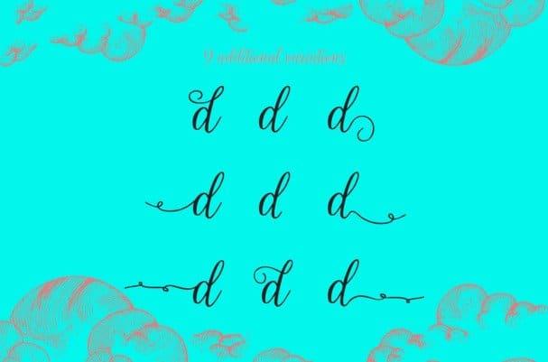 Download Calista Scirpt font (typeface)