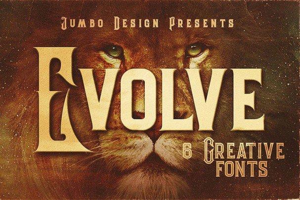 Download Evolve - Vintage Style Font font (typeface)