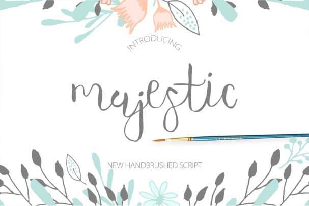 Download Majestic Script font (typeface)