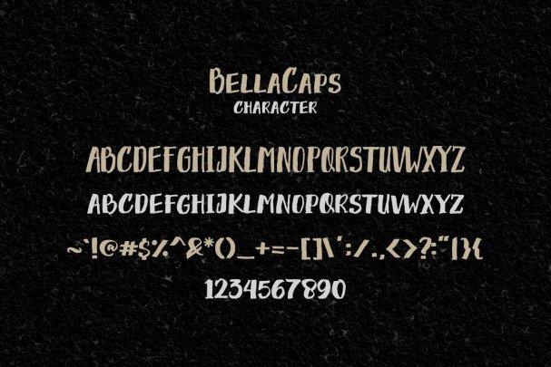 Download Bella Caps font (typeface)