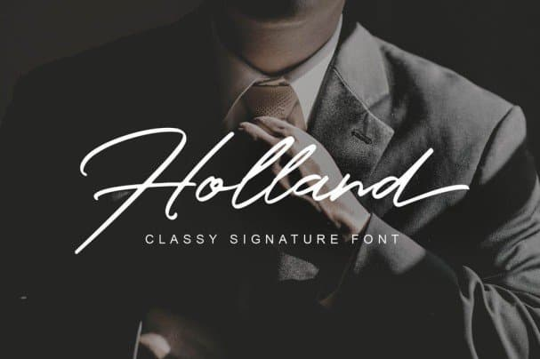 Download Holland Classy Font font (typeface)