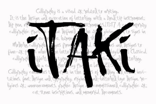 Download Itaki - Calligraphic Typeface font (typeface)