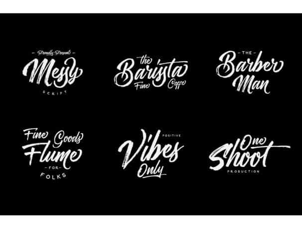 Download Messy Script font (typeface)
