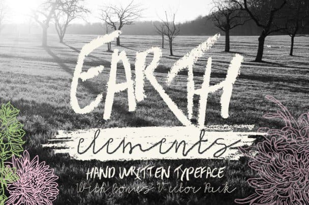 Download Earth Elements Type font (typeface)