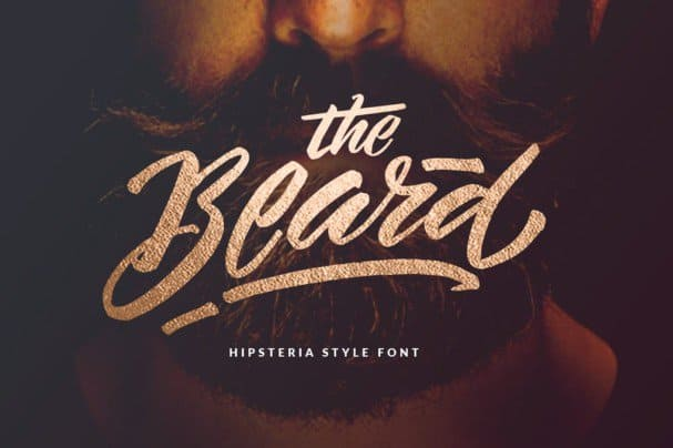 Download The Beard - Branded Typeface +Extras font (typeface)