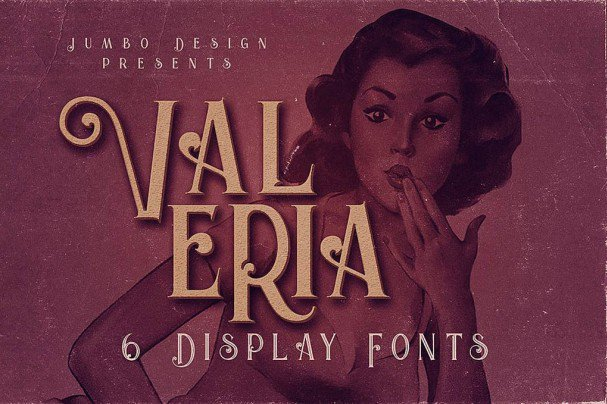 Download Valeria - Display Font font (typeface)
