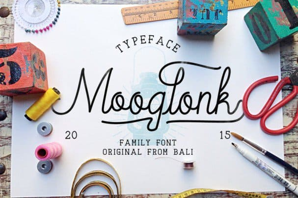 Download Mooglonk Typeface font (typeface)