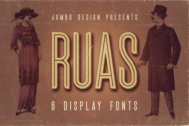 Download Ruas - Vintage Style font (typeface)