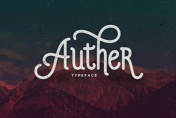 Download Auther Typeface font (typeface)