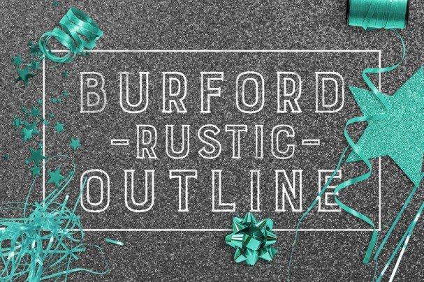 Download Burford Rustic Outline font (typeface)
