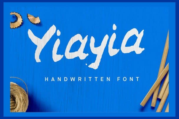 Download YiaYia Handwritten font font (typeface)
