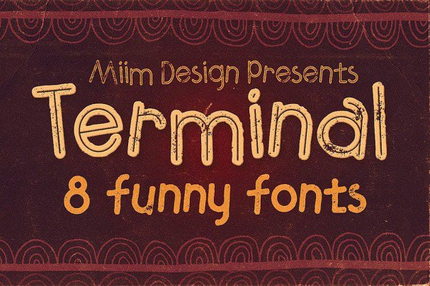 Download Terminal - Funny font (typeface)