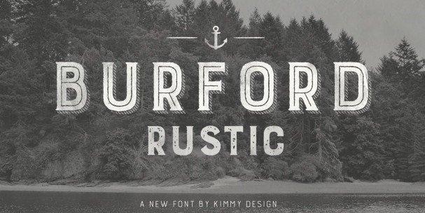 Download Burford Rustic Line Bold font (typeface)