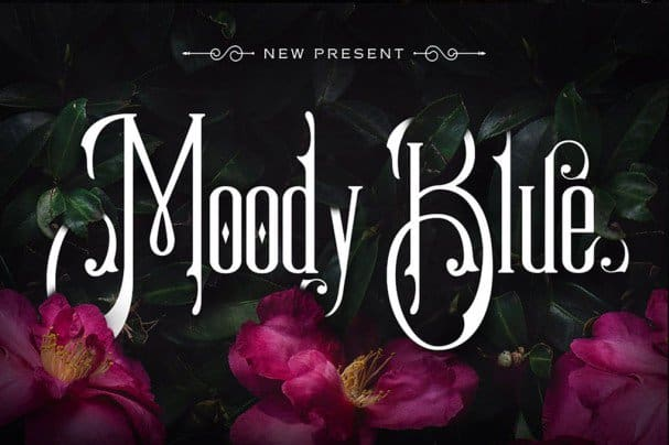 Download Moody Blue Typeface font (typeface)