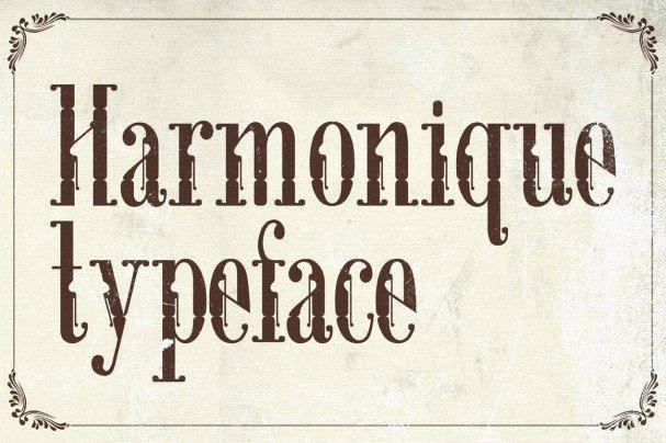 Download Harmonique Typeface font (typeface)