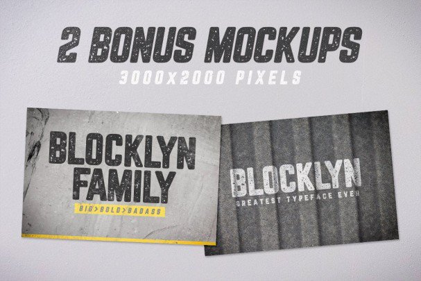 Download Blocklyn Font Family + Mockups font (typeface)