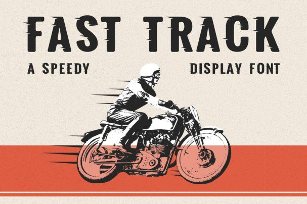 Download Fast Track - A Speedy Display Font font (typeface)