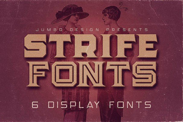 Download Strife - Display font (typeface)