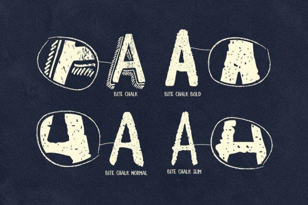 Download BiteChalk Typeface + extras font (typeface)