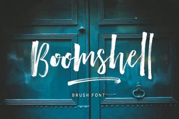 Download Boomshell Brush Font font (typeface)