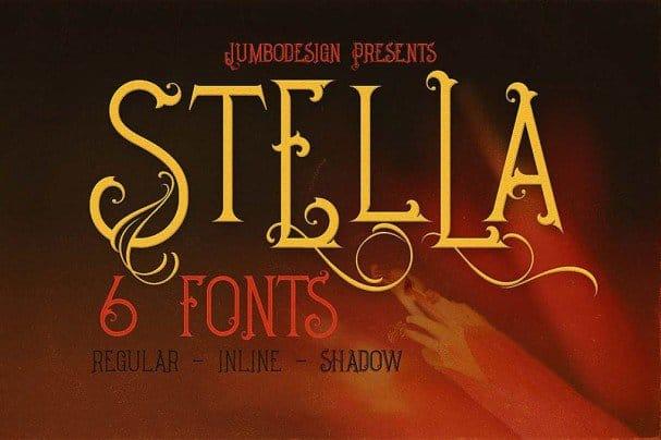 Download Stella - Decorative font (typeface)