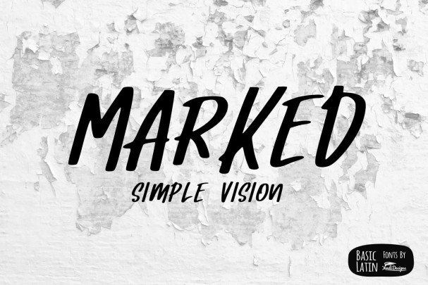 Download Marked Font font (typeface)