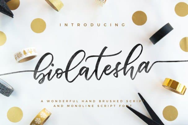 Download Biolatesha font (typeface)