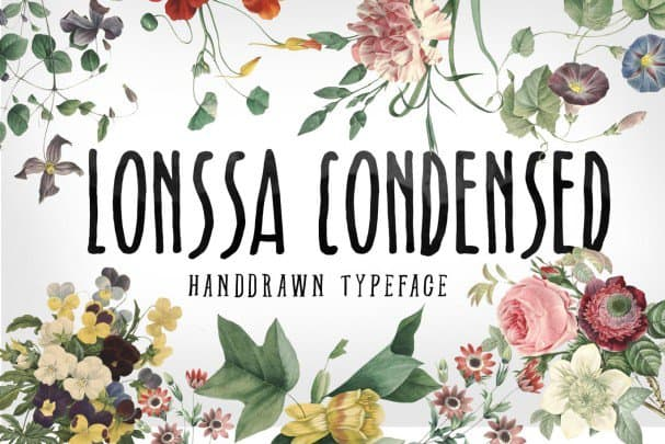 Download Lonssa Condensed Typeface font (typeface)