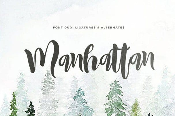 Download Manhattan (2 fonts) font (typeface)