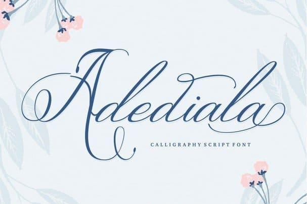 Download Adediala Script font (typeface)