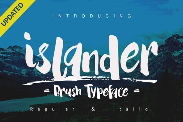 Download Islander Typeface + Extra font (typeface)