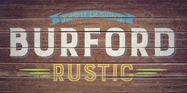 Download Burford Rustic Inline Light font (typeface)