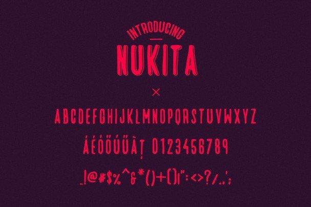 Download Nukita - Handmade Font font (typeface)