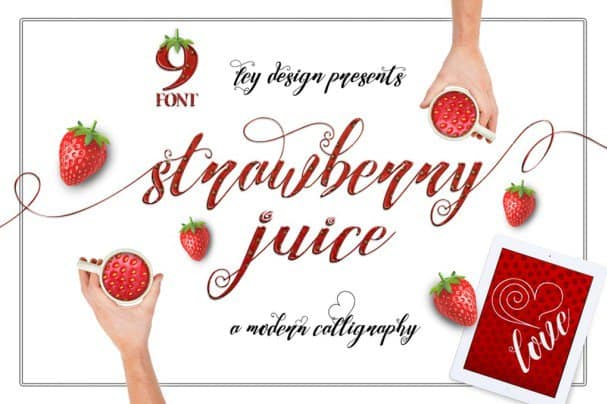 Download Strawberry Juice font (typeface)