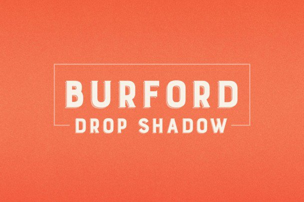 Download Burford Drop Shadow font (typeface)