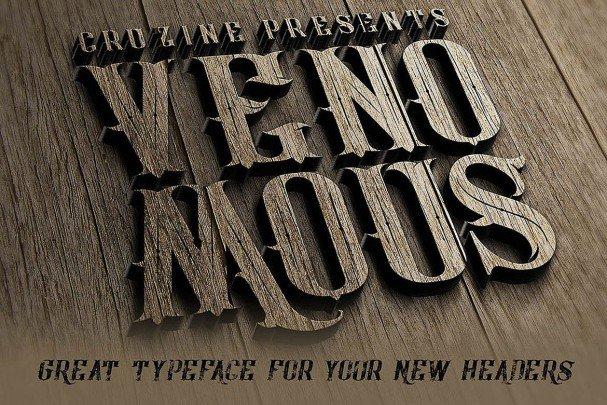 Download Venomous Typeface font (typeface)