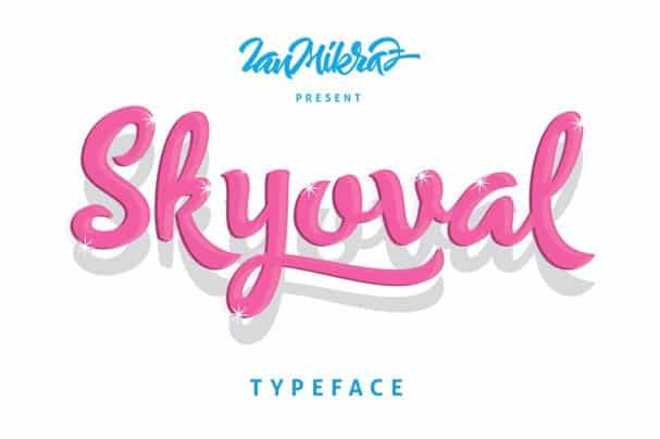 Download Skyoval Typeface font (typeface)