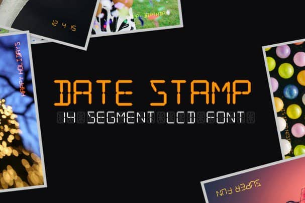 Download Date Stamp font (typeface)