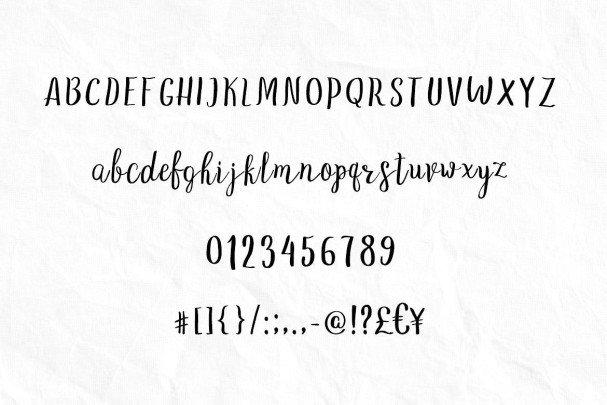 Download Love Story - gentle script font (typeface)