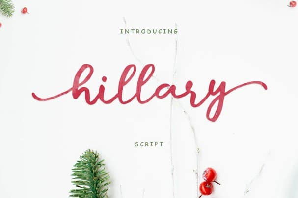 Download Hillary Script font (typeface)
