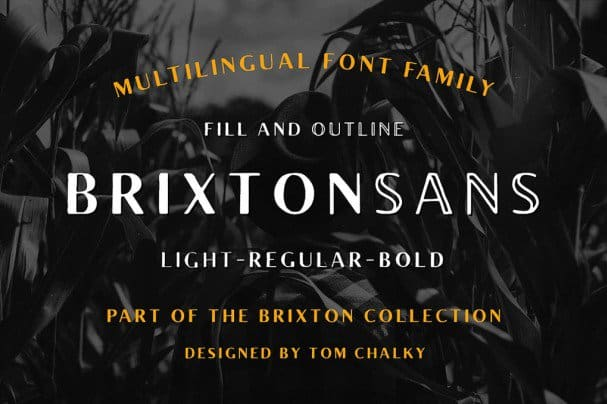 Download Brixton Sans (Fill and Outline) font (typeface)