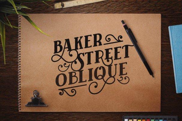 Download Baker Street Black Oblique font (typeface)