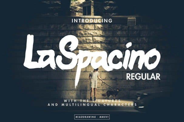 Download LaSpacino Typeface font (typeface)